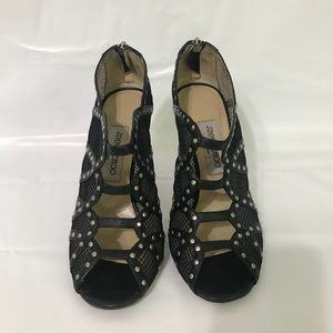 Jimmy Choo Shoes - Authentic Jimmy Choo Lace Studded Sandals